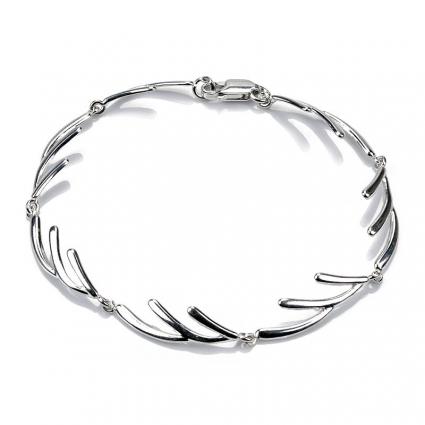 Bransoletka srebrna gałązki