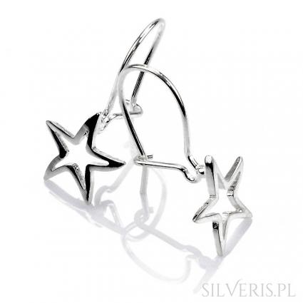 Kolczyki srebrne gwiazda