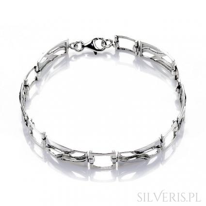 Bransoletka srebrna prostokątna