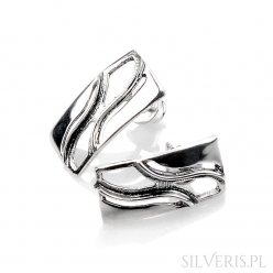 Kolczyki srebrne prostokątne