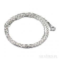 Łańcuszek srebrny Anker Diamentowany