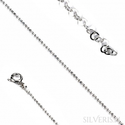 Bransoletka srebrna kulka diamentowana