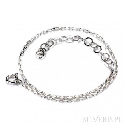 Bransoletka srebrna Anker Diamentowany