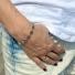 Bransoletka srebrna koniczynki