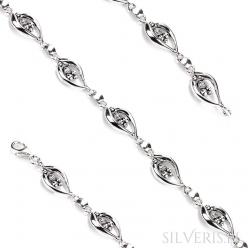 Bransoletka srebrna
