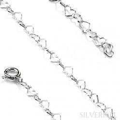 Łańcuszek srebrny Serduszka