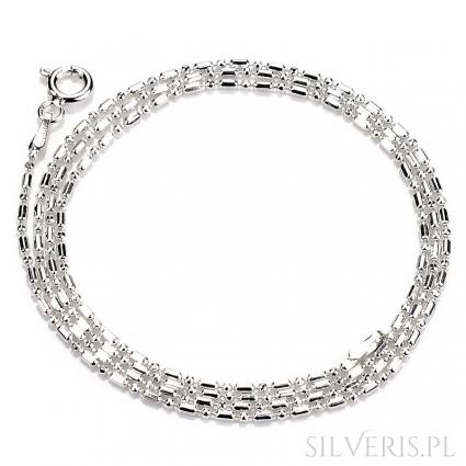 Łańcuszek srebrny Kulka-Pałka