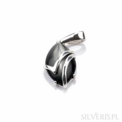 Zawieszka srebrna łezka z uleksytem