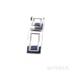 Zawieszka srebrna prostokątna