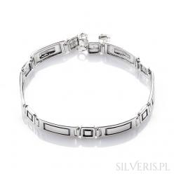 Bransoletka srebrna prostokąty