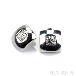 Kolczyki srebrne kwadraty