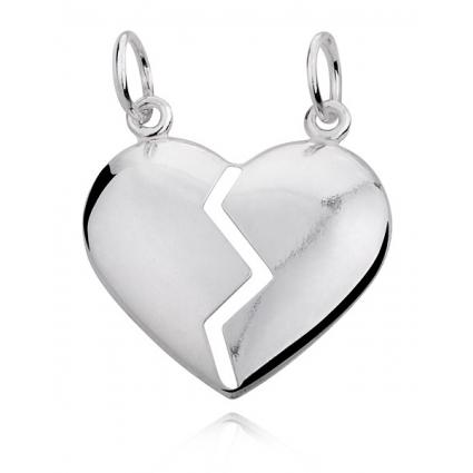 Zawieszka srebrna serce do przełamania