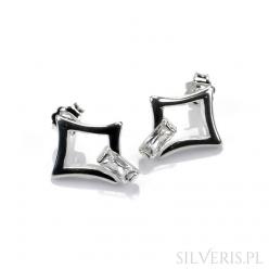 Kolczyki srebrne kwadrat z...