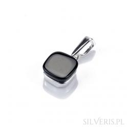 Zawieszka srebrna uleksyt czarny