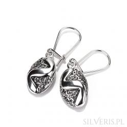 Kolczyki srebrne Ornament