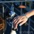 Bransoletka srebrna kropelki z uleksytem błękitnym