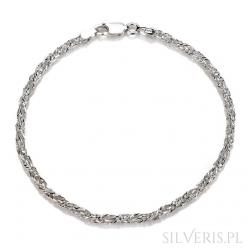 Bransoletka srebrna skręcony lisi ogon