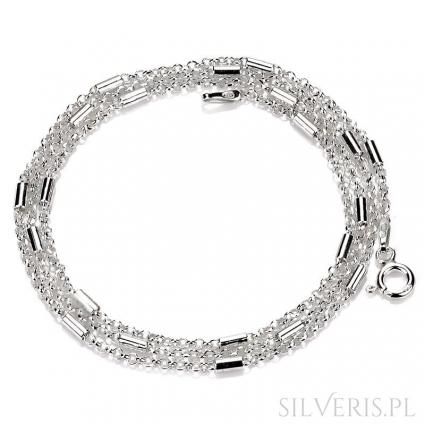 Łańcuszek srebrny Anker-Rurka Diamentowana