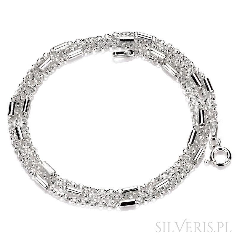 c190707c301ad2 Łańcuszek srebrny Anker-Rurka Diamentowana w Silveris.pl
