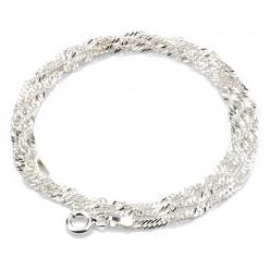 Łańcuszek srebrny Singapur
