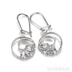 Kolczyki srebrne z cyrkoniami