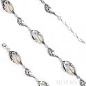 Bransoletka srebrna Opal Biały - srebro 925