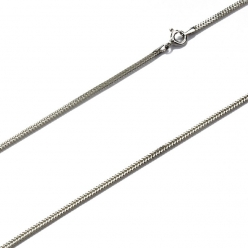 Łańcuszek srebrny lisi ogon diamentowany