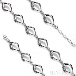 Bransoletka srebrna Ażur