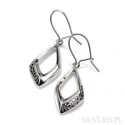 Kolczyki srebrne Ażur