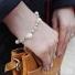 Bransoletka srebrna z perłami WhiteMatt