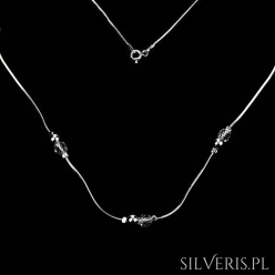 Naszyjnik srebrny Koralik