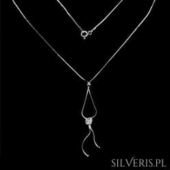 Naszyjnik srebrny Lovy Cyrkonia