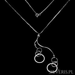 Naszyjnik srebrny Kółeczka