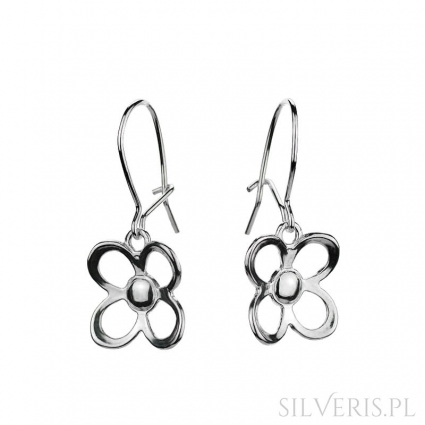 Kolczyki srebrne Kwiatki