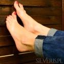 Bransoletka srebrna na nogę Wenecjana