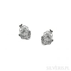 Kolczyki srebrne Róże