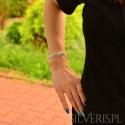Bransoletka srebrna Agate Blue Lace