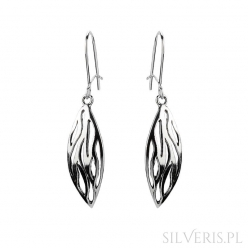 Kolczyki srebrne Leaves