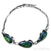 Bransoletka srebrna Opal Zielony