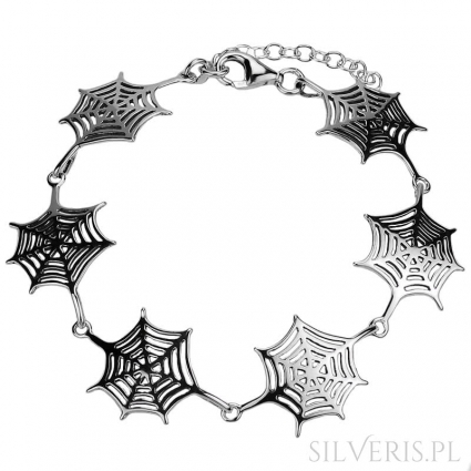 Bransoletka srebrna Spider Woman