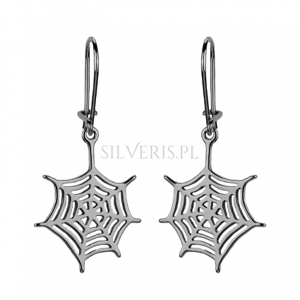 Kolczyki srebrne Spider Woman