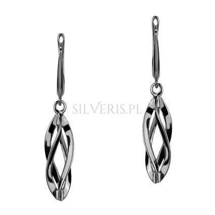 Kolczyki srebrne Spiral