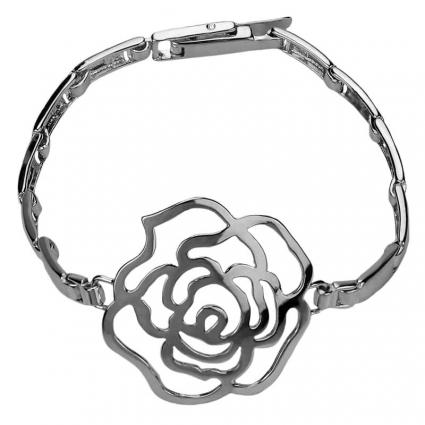 Bransoletka srebrna róża