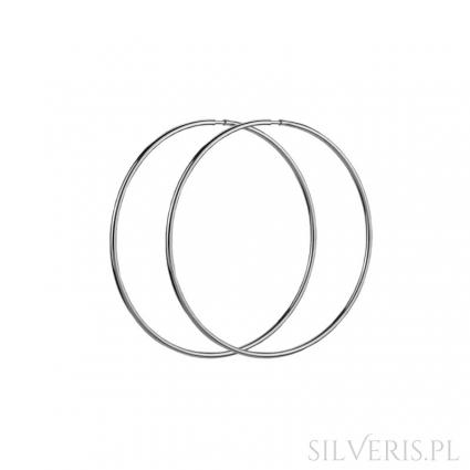 Kolczyki srebrne koła 22 mm
