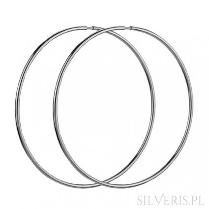 Kolczyki srebrne Duże Koła 65 mm