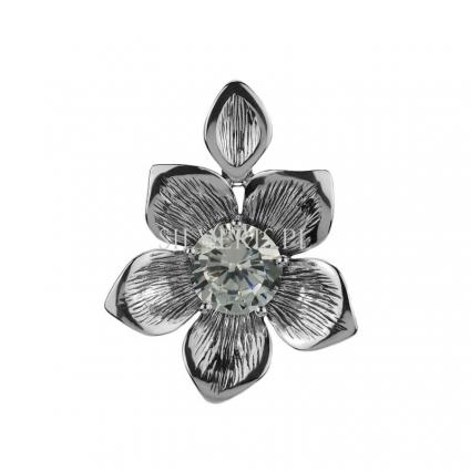Zawieszka srebrna Kwiat Cyrkonia