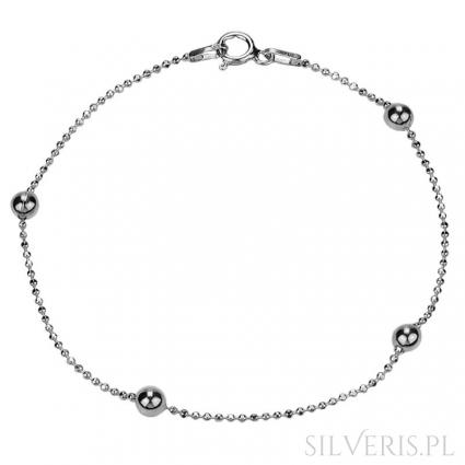 Bransoletka srebrna Kulka-Kulka 19 cm