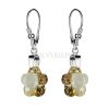 Kolczyki srebrne z kryształami Swarovskiego Flower Golden Shadow
