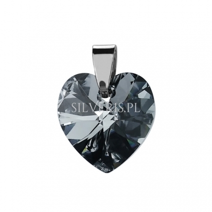 Zawieszka srebrna Swarovski Heart Light Chrome