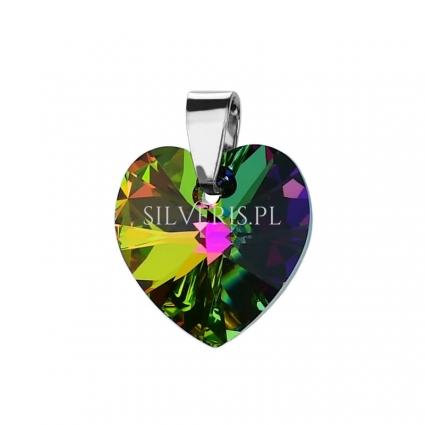 Zawieszka srebrna Swarovski Heart Vitrail Medium